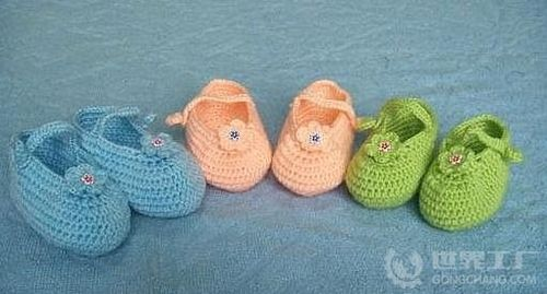 宝宝鞋织法