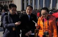 杭州娃哈哈集团董事长兼总经理宗庆后接受记者采访