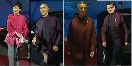 来看21国 APEC领导人服装全揭秘