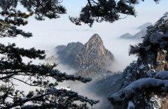 安徽黄山雪后初晴景色迷人